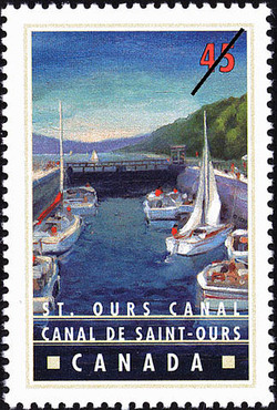 St. Ours Canal Canada Postage Stamp | Canals, Recreational destinations