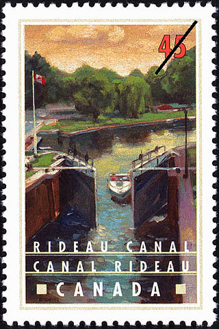 Rideau Canal, Summer Boating at Jones Falls Canada Postage Stamp