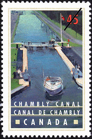 Chambly Canal Canada Postage Stamp | Canals, Recreational destinations