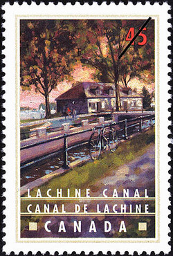 Lachine Canal Canada Postage Stamp   Canals, Recreational destinations