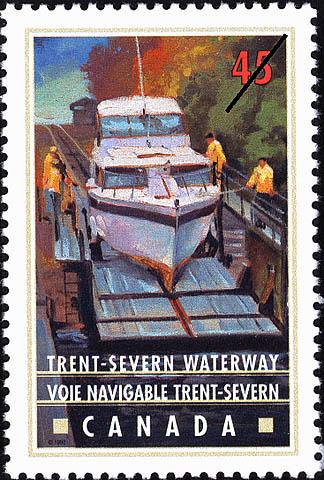 Trent-Severn Waterway, Marine Railway Canada Postage Stamp | Canals, Recreational destinations
