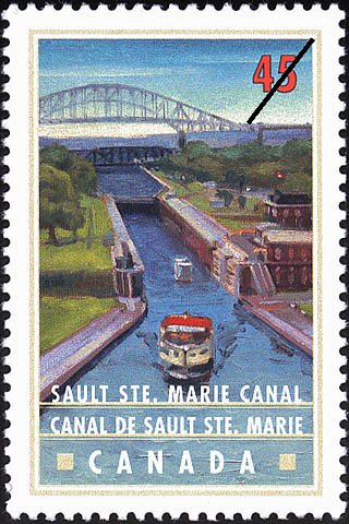 Sault Ste. Marie (Soo) Canal Canada Postage Stamp | Canals, Recreational destinations