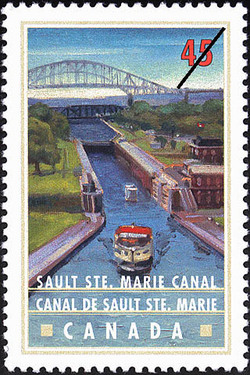 Sault Ste. Marie (Soo) Canal Canada Postage Stamp   Canals, Recreational destinations