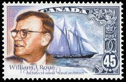 William James Roue, 1879-1970, Naval Architect Canada Postage Stamp