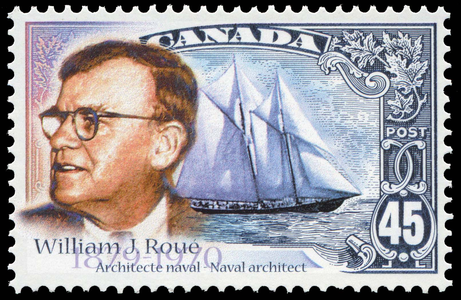 William James Roue, 1879-1970, Naval Architect Canada Postage Stamp