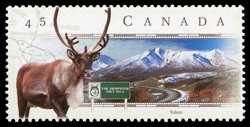 Dempster Highway, Yukon Canada Postage Stamp | Scenic Highways