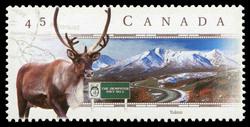 Dempster Highway, Yukon Canada Postage Stamp | Scenic Highways