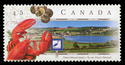 Blue Heron Scenic Route, Prince Edward Island Canada Postage Stamp | Scenic Highways