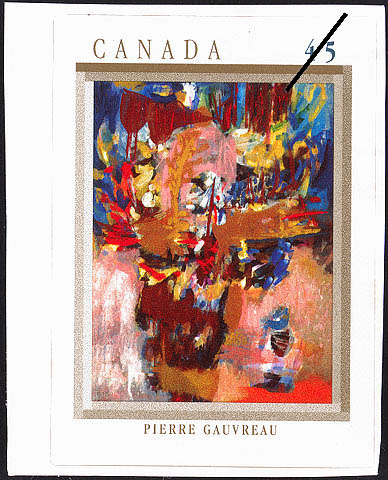 Le fond du garde-robe, Pierre Gauvreau Canada Postage Stamp | The Automatistes