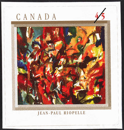 Painting, Jean-Paul Riopelle Canada Postage Stamp | The Automatistes