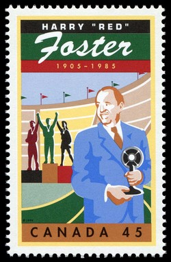 "Harry ""Red"" Foster, 1905-1985 Canada Postage Stamp 