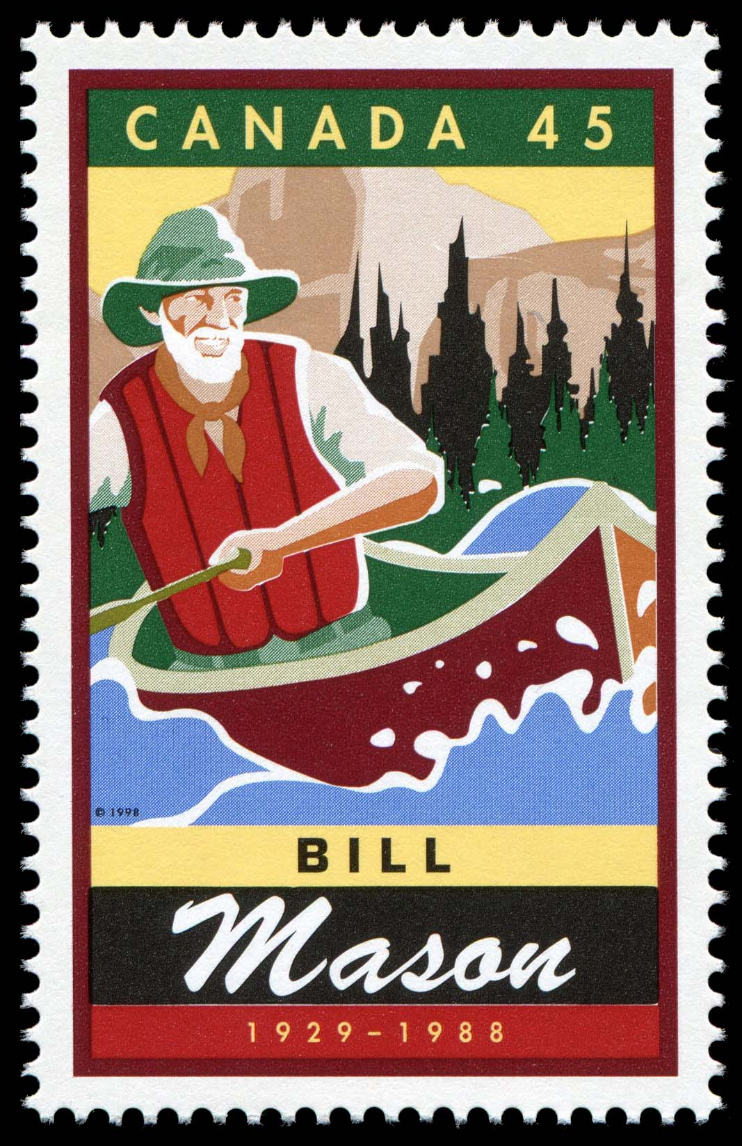 Bill (William) Mason, 1929-1988 Canada Postage Stamp