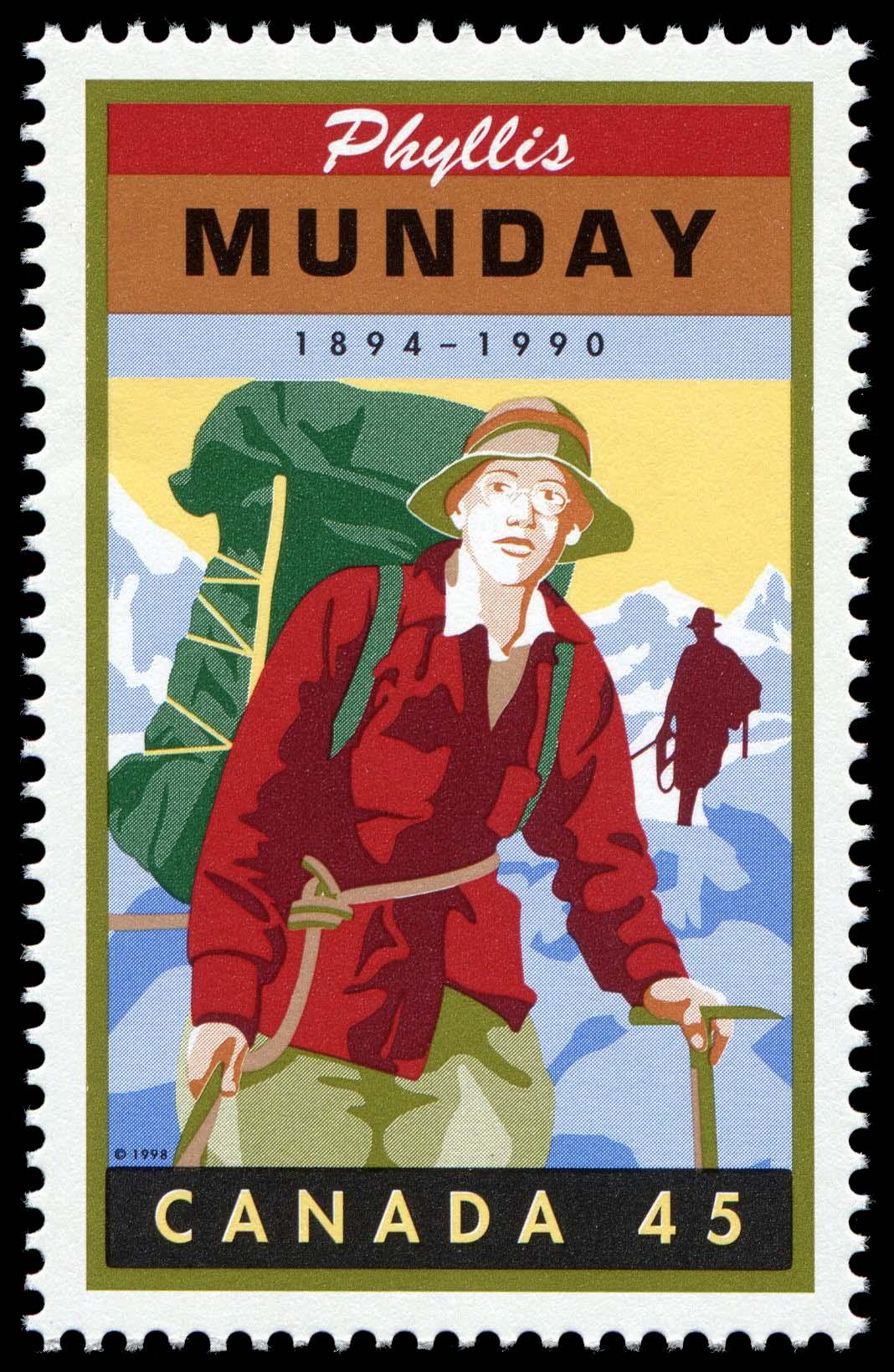Phyllis Munday, 1894-1990 Canada Postage Stamp   Legendary Canadians