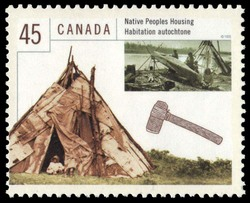 Native Peoples Housing Canada Postage Stamp | Housing in Canada