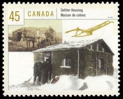 Settler Housing Canada Postage Stamp | Housing in Canada