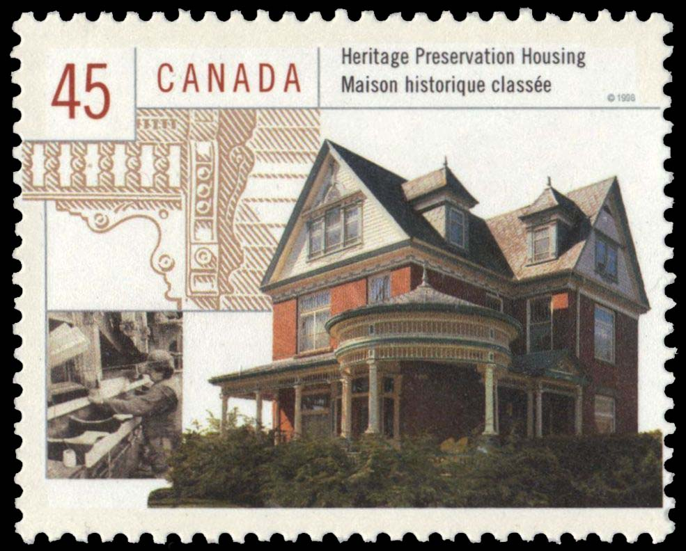 Heritage Preservation Housing Canada Postage Stamp | Housing in Canada