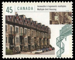 Multiple Unit Housing  Postage Stamp