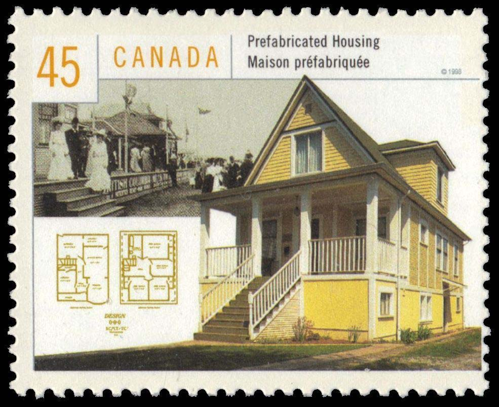 Prefabricated Housing Canada Postage Stamp