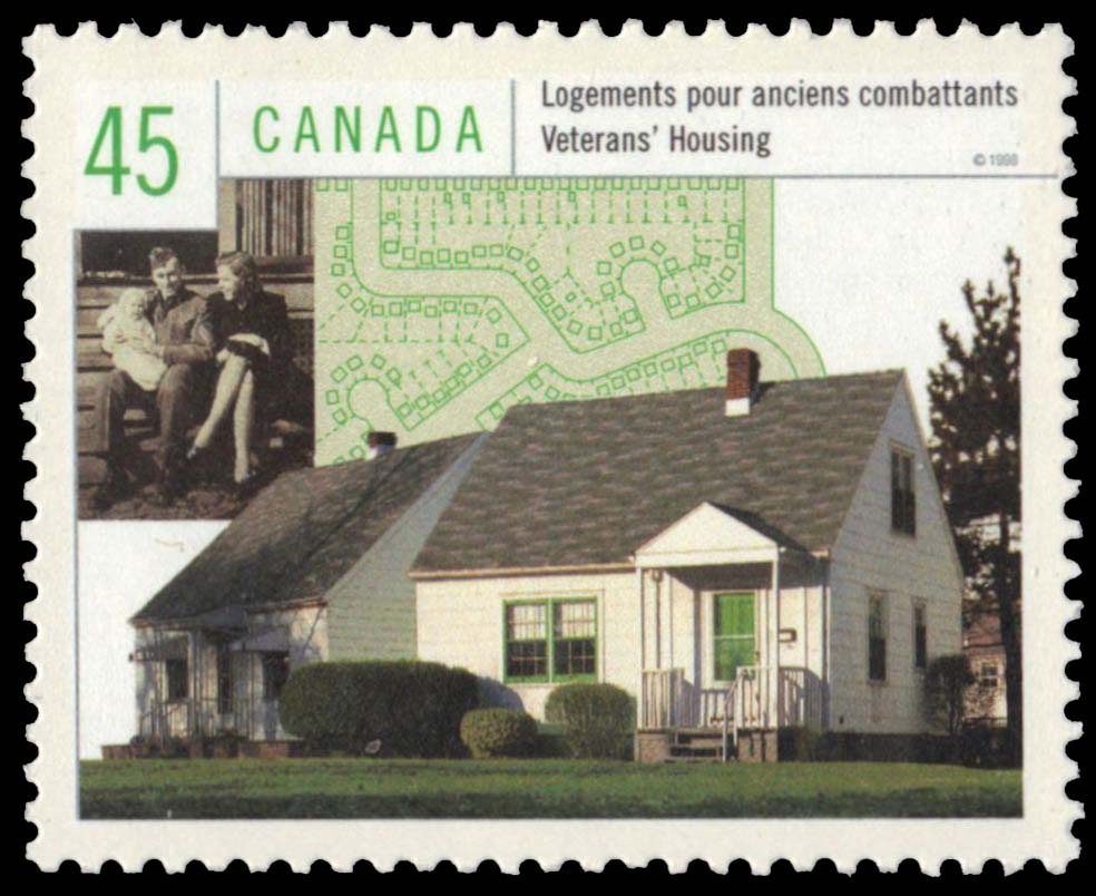Veterans' Housing Canada Postage Stamp