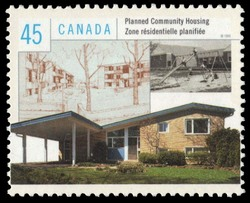 Planned Community Housing Canada Postage Stamp | Housing in Canada