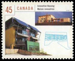 Innovative Housing  Postage Stamp