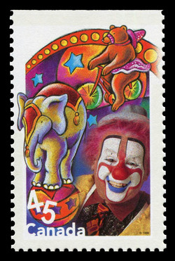 Animal Tricks Canada Postage Stamp | Circus