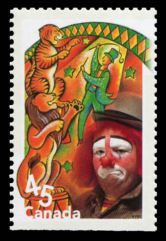 Lion Tamers Canada Postage Stamp | Circus