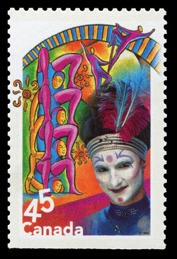 Acrobats and Contortionists Canada Postage Stamp | Circus