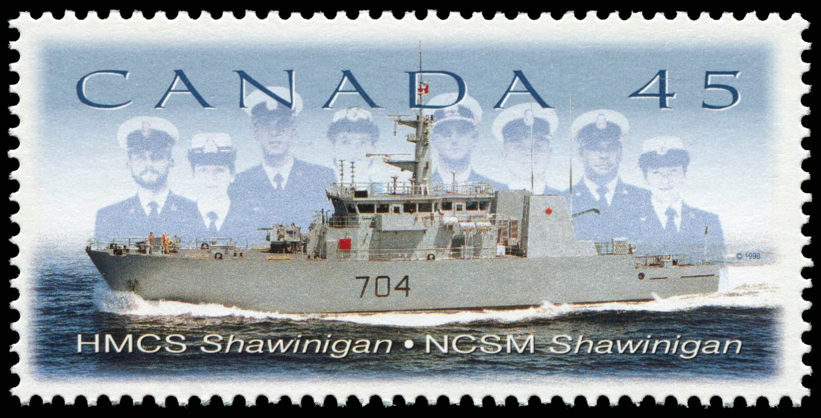 HMCS Shawinigan - Canadian Corvette Canada Postage Stamp | Naval Vessels