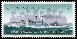 HMCS Sackville - Canadian Corvette Canada Postage Stamp | Naval Vessels