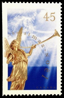 Angel of the Last Judgement - Baroque Sculpture Canada Postage Stamp | Christmas, Angels