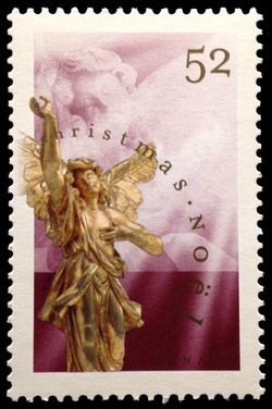 Adoring Angel  - Baroque Sculpture  Postage Stamp