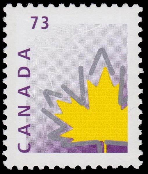 Stylized Maple Leaf Canada Postage Stamp | Maple Leaf