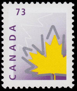 Stylized Maple Leaf Canada Postage Stamp | Maple Leaf