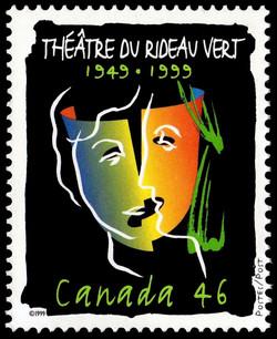 Theatre du Rideau Vert, 1949-1999 Canada Postage Stamp