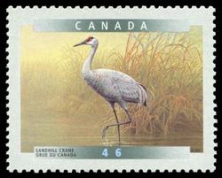 Sandhill Crane (Grus Canadensis) Canada Postage Stamp | Birds of Canada