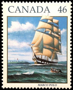 Marco Polo Canada Postage Stamp