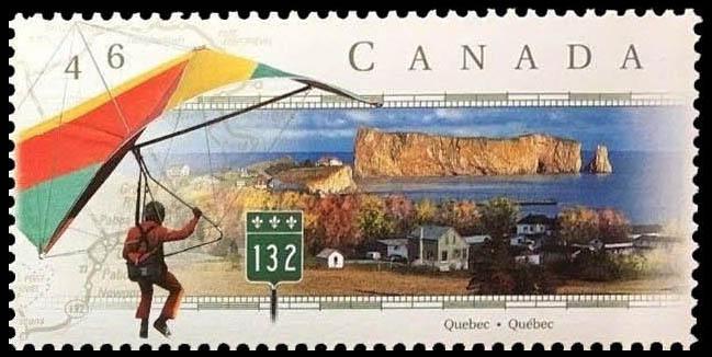 Route 132, Quebec Canada Postage Stamp | Scenic Highways