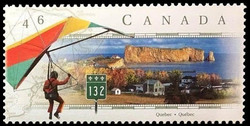 Route 132, Quebec Canada Postage Stamp | Scenic Highways