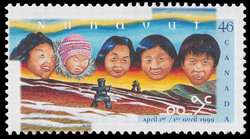 Nunavut, April 1st 1999 Canada Postage Stamp