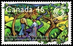 International Year of Older Persons Canada Postage Stamp