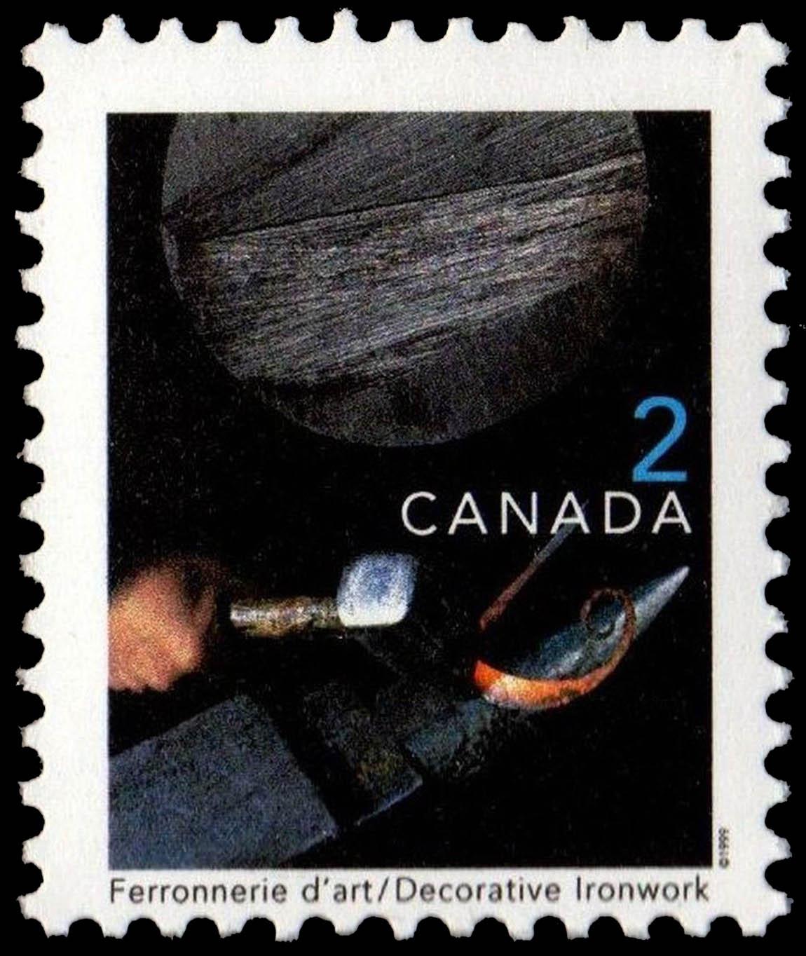 Decorative Ironwork Canada Postage Stamp   Traditional Trades