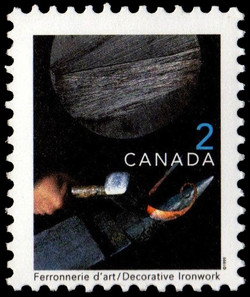 Decorative Ironwork Canada Postage Stamp | Traditional Trades