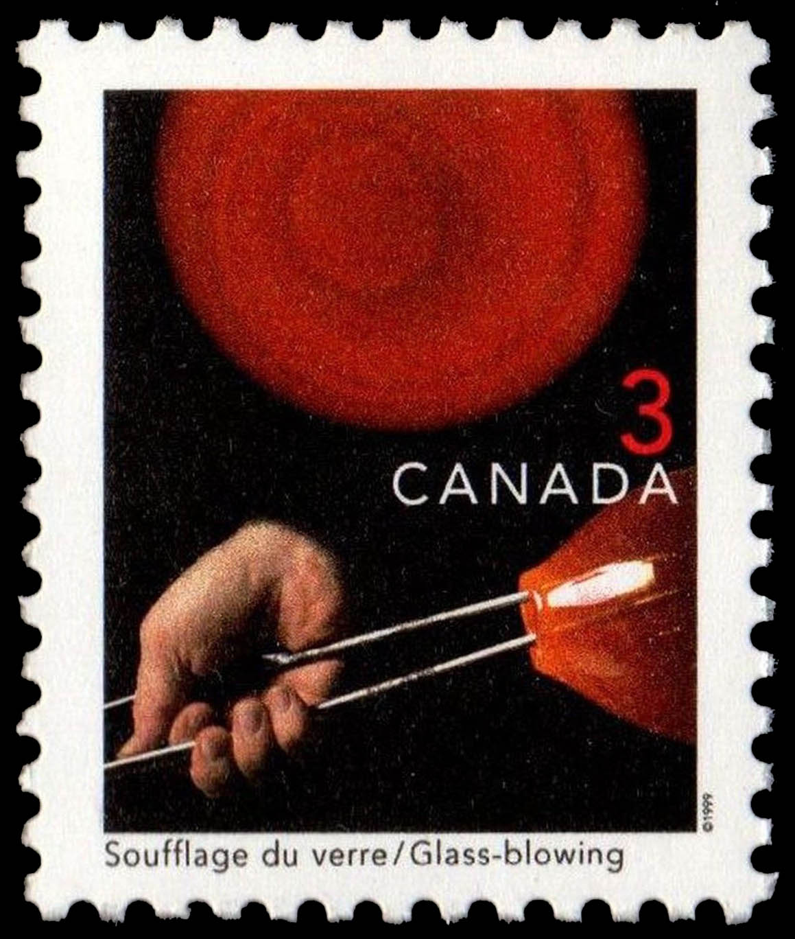 Glass-blowing Canada Postage Stamp | Traditional Trades