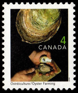 Oyster Farming Canada Postage Stamp | Traditional Trades