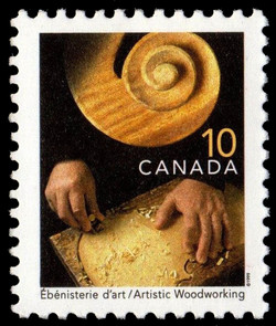 Artistic Woodworking Canada Postage Stamp | Traditional Trades