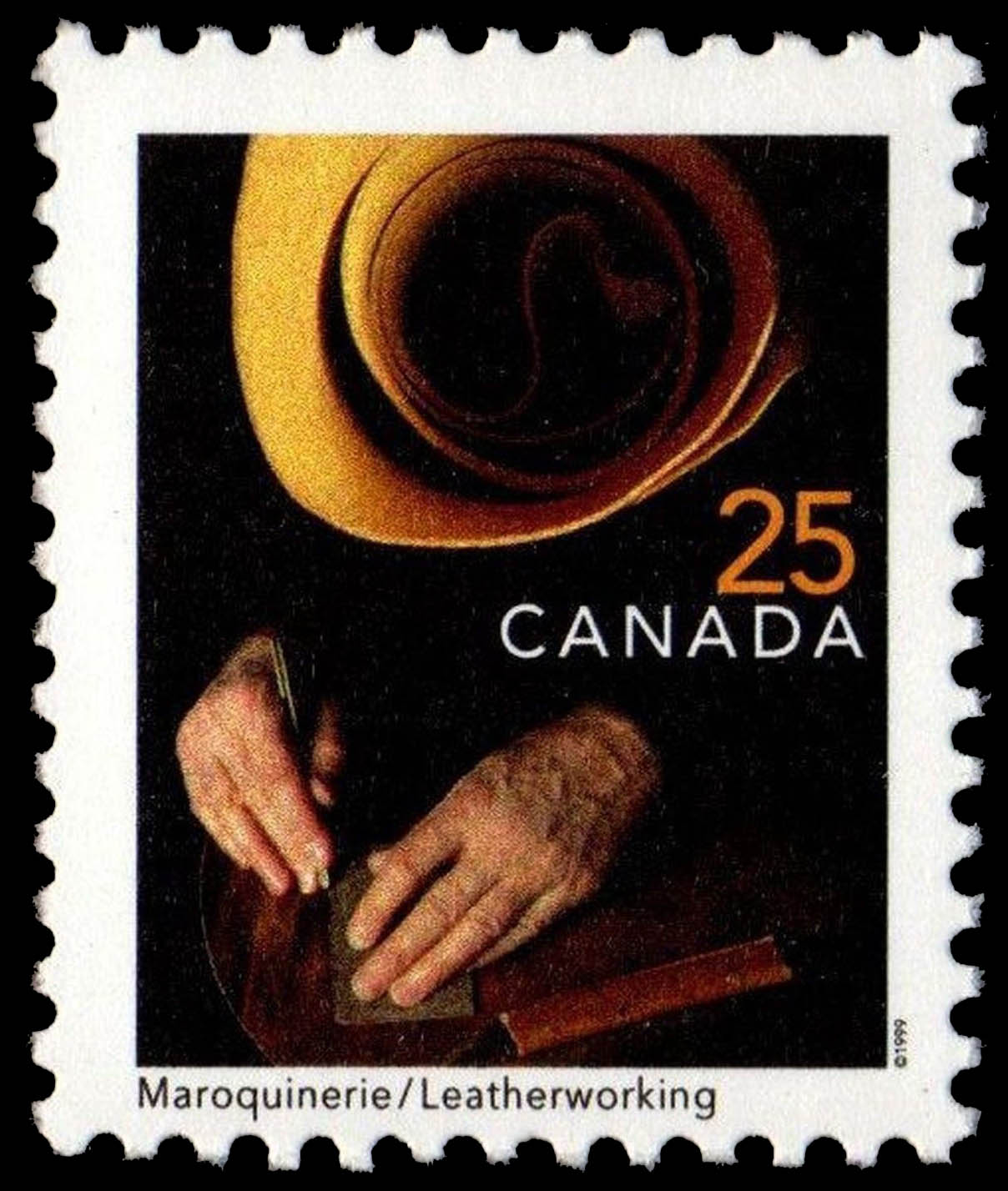 Leatherworking Canada Postage Stamp   Traditional Trades