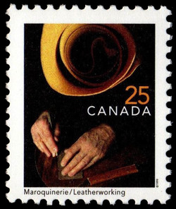 Leatherworking Canada Postage Stamp | Traditional Trades
