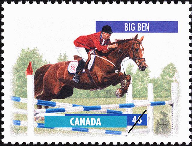 Big Ben Canada Postage Stamp   Horses