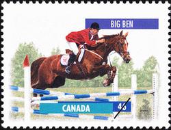 Big Ben Canada Postage Stamp | Horses